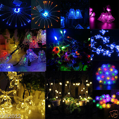 Solar Powered 5M 20LED Fairy String Light Indoor/Outdoor Xmas Christmas Party