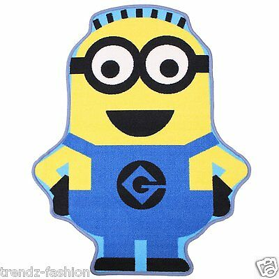 Despicable Me Minion Shaped Rug Kids Bed Room Floor Character Padded Mat Carpet