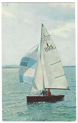 NATIONAL MERLIN ROCKET Bermudan Sloop RP Postcard by Salmon Unposted c1960s