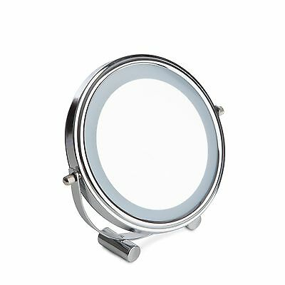 LED Cosmetic Mirror Magnified Make Up Free Standing  Mirror