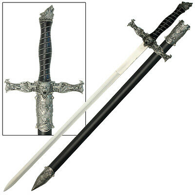 Spirit of the Alpha Wolf Medieval Stainless Steel Knights Sword Costume Replica