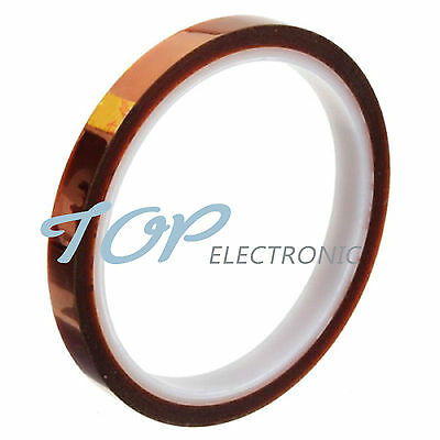 5PCS 10mm 100ft BGA High Temperature Heat Resistant Polyimide Gold Kapton Tape