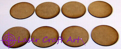 Bolt Action and other games 2mm MDF 60mm round bases pack of 6 for Swordpoint
