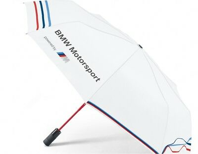 BMW Genuine Motorsport Automatic Folding Umbrella in White Classic Design