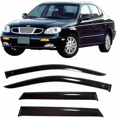 For Daewoo Leganza 1997-2008 Window Visors Side Sun Rain Guard Vent  Deflectors b64e981e59c