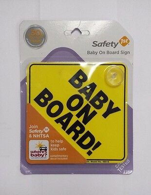 "Safety 1st ""Baby On Board"" Car Window Traffic Sign"