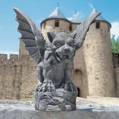 Perched Florentine Gargoyle Garden Statue Gothic Architecture Home Decor