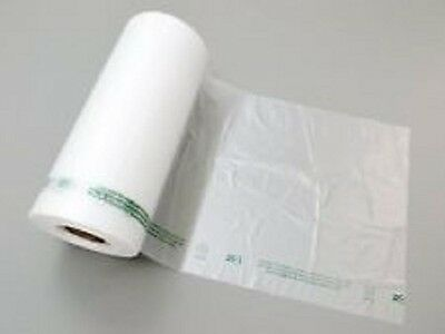 "2 Rolls 11""x14"" Produce Plastic HDPE Bags Printed Warning 760pcs Thickness 13Mic"