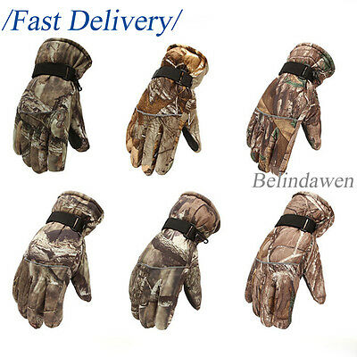 Warm Camouflage Full Finger Gloves Waterproof Windproof Hunting Tactical Cycling