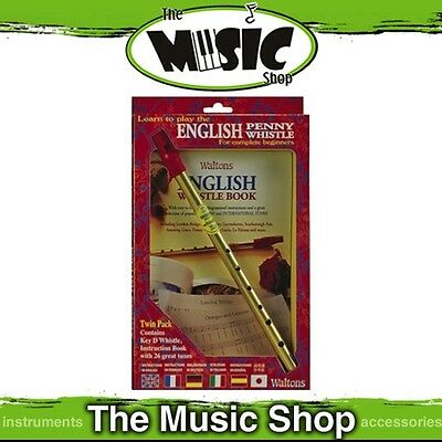 New Waltons English Penny Whistle Pack with Learn to Play Penny Whistle Book