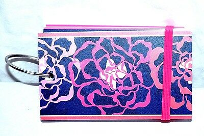 NEW VERA BRADLEY study buddy KATALINA PINK 100 INDEX CARDS ON RING REFILLABLE