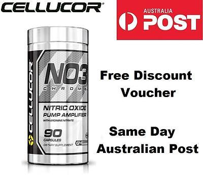 Cellucor NO3 Chrome Nitric Oxide Amplifier Pump 90 Capsules