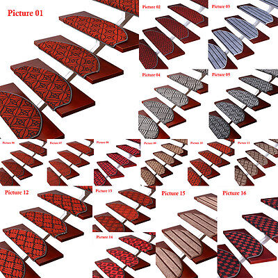 New 13pcs Europe Style Carpet Stair Mats Pads Staircase Pad Rugs Treads Non-slip