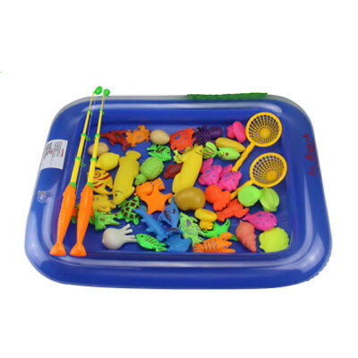 Magnetic Fishing Game Bath Toy Set 45 Fish With Fishing Pool Rod For Kids Gift