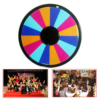 "12"" Portable Table Top Dry Erase Game Show Spinning Prize Wheel of Fortune Party"