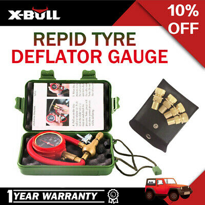 Tyre Deflators 4x Brass Air Deflator AND Rapid Tyre Deflator Deflators