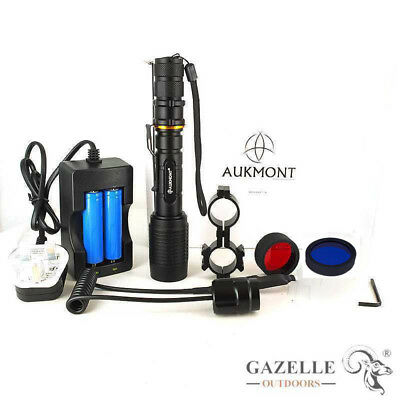 Tactical Cree XM-L2 LED 1 Mode Flashlight Torch With 18650 Battery & Charger Set