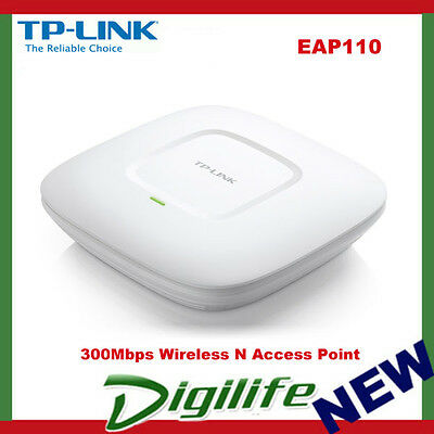 TP-Link EAP110 300Mbps Wireless N Ceiling Mount Access Point POE AP