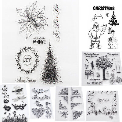 Alphabet Transparent Stamp DIY Silicone Butterfly Rubber Stamp Scrapbooking