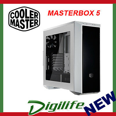 Cooler Master MasterBox 5 Quiet Mid Tower USB 3.0 Gaming Case Window Panel White