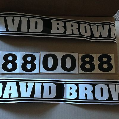 David Brown Budget Decals 880