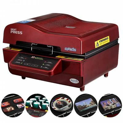 3D Vacuum Sublimation Heat Press Machine for Phone Cases Mugs Cups Heat Printing