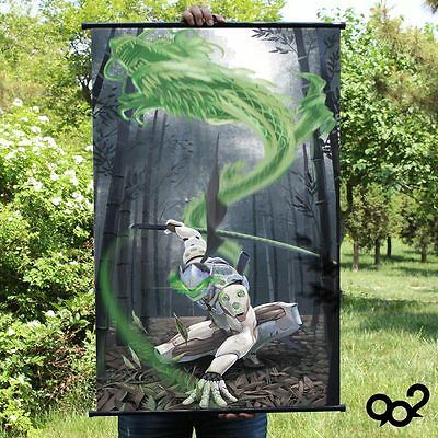 Overwatch Genji Green Dragon Home Decor Poster Wall OW Scroll Painting 60*90cm