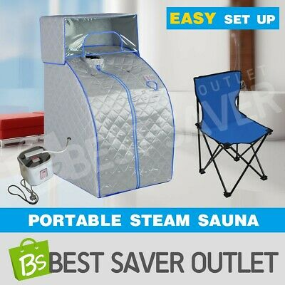 Indoor Portable Steam Sauna Tent Loss Weight Slimming Skin Spa w/ Head Cover