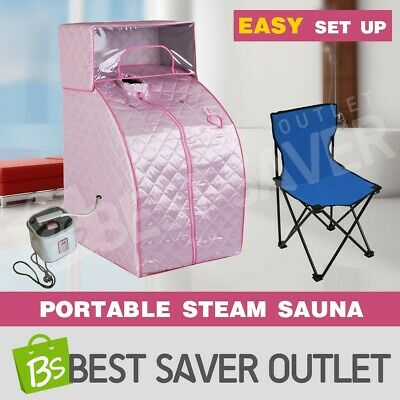 Indoor Portable Loss Weight Slimming Skin Steam Sauna Tent Spa w/ Cover Head