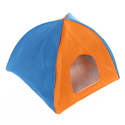 Portable Outdoor Camp Hamster Pet Sun House Shelter Bed Tent Toy Orange Blue S