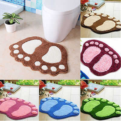 Carpet Bathroom Toilet Bath Shower Pad Rug Plush Absorbent Soft Mat Non Slip AUU