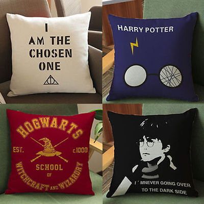 Harry Potter Car Chairs Throw Pillow Case Back Cushion Cover Cotton Linen 17''