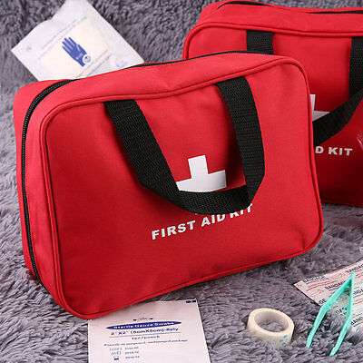 Portable Emergency Survival First Aid Kit Bag Sports Camping Home Medical GH