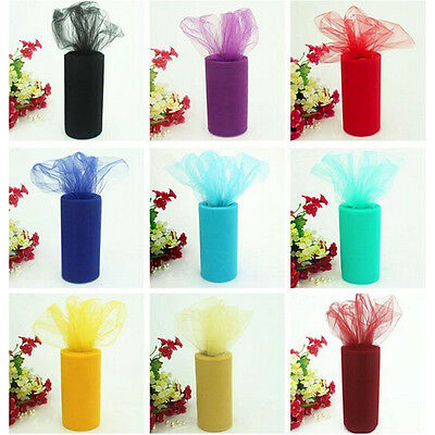 22m*15cm Sheer Organza Tulle Roll Fabric Wedding Party New Year Decoration