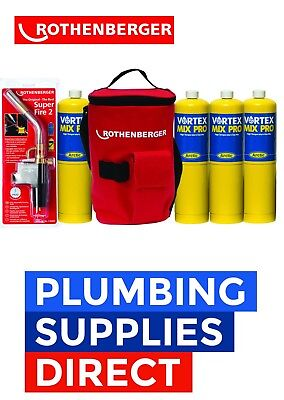 Rothenberger Plumbers Hot Bag - Superfire 2 Solderding Torch 4 Mapp - Soldering