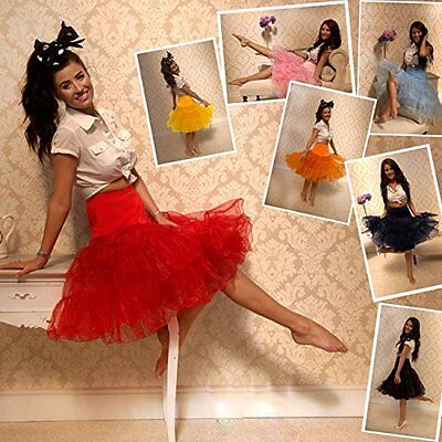 "18 Colors 26"" Retro Swing 50s Vintage Rockabilly Tutu Petticoat Net Underskirt"