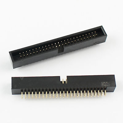 5Pcs 1.27mm Pitch 2x25 50 Pin Straight Male Shrouded Box Header IDC Connector