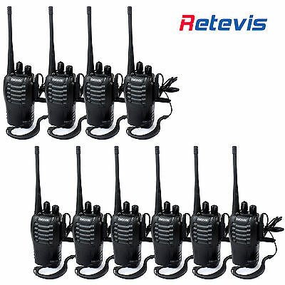 10PCS Walkie Talkie Retevis H777 2 Way Radio UHF400-470MHz 5W Walky Talky
