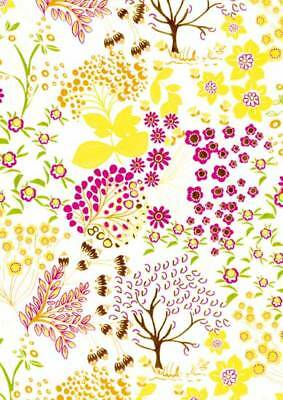 20er Pack DecoPatch Papier Nr. 523 gelb weiß rosa Baum Deko Patch Decoupage