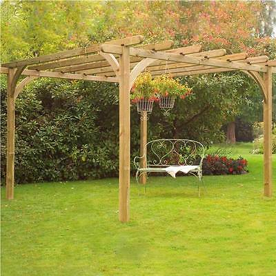 Ultima Pergola Kit  3.6 x 3.6m Garden Structure Outdoor Feature Frame