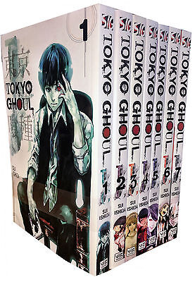Tokyo Ghoul Volume 1-7 Collection 7 Books Set Children Manga Books Set Pack NEW