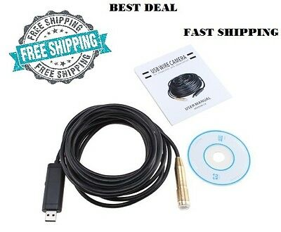 Pipe Inspection Camera Tube Sonde Video Sewer Drain Cleaner Waterproof 50 ft NEW