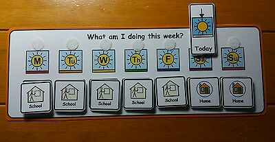 School or Home Planner Visual Aid/Support &  Symbols for Autism/ADHD/ASD/SEN