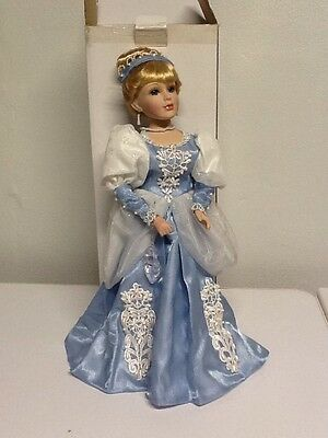 "New Other! Princess Cinderella Porcelain Doll 15.5"" Tall Free Shipping! D"