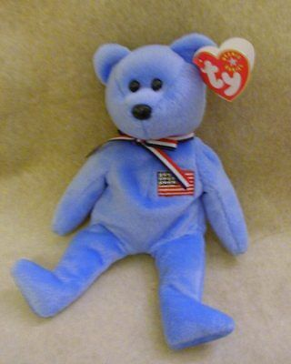 """""""America"""" Tagged Ty Beanie Babies -- Perfect Condition -- REDUCED!!"""