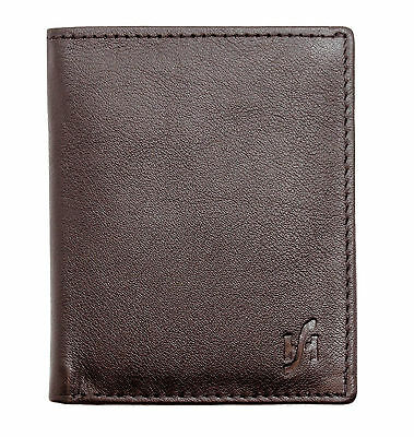 Starhide Slim Real Leather Credit Card Holder Mini Card Case Wallet - 205 Brown