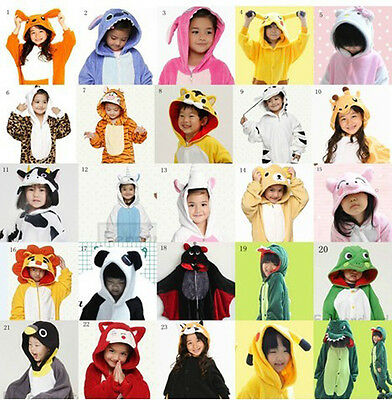 TOP Children Kid Pajamas Kigurumi Unisex Cosplay Animal Costume Onesie Nightwear