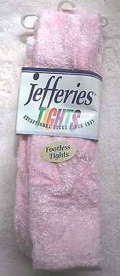 Jefferies Pink Footless Fuzzy Tights 8-10 years (62-78 lbs)