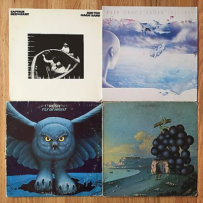 4 LP Prog Rock Vinyl Record Lot #174 Captain Beefheart Rush Moby Grape