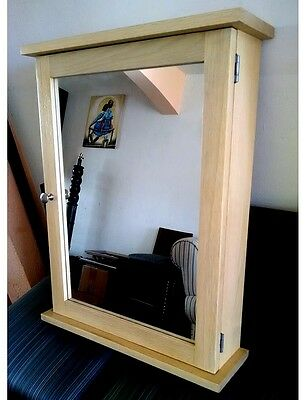 Oak Medicine Cabinet & Mirror / Handcrafted with Solid OaK